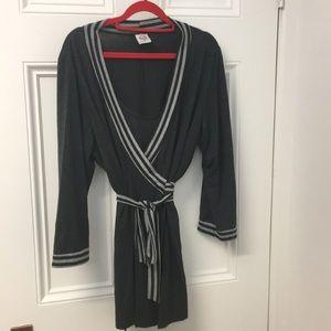 Elegant maternity / nursing wrap tunic